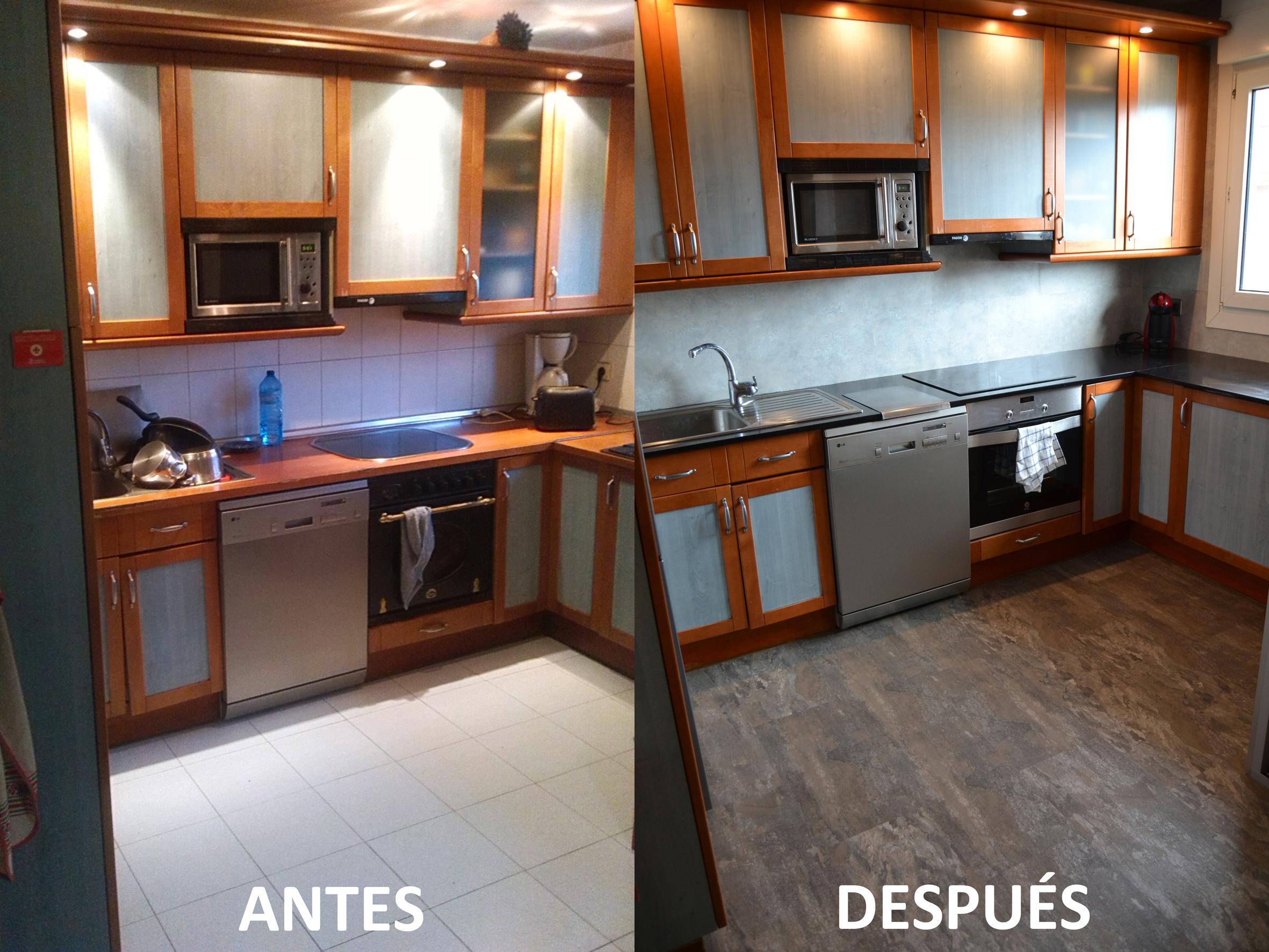 Tsn tecnisuelos suelos y paredes vinilicos for Cocinas antes y despues